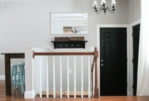 this family created a functional foyer from scratch, love the look!