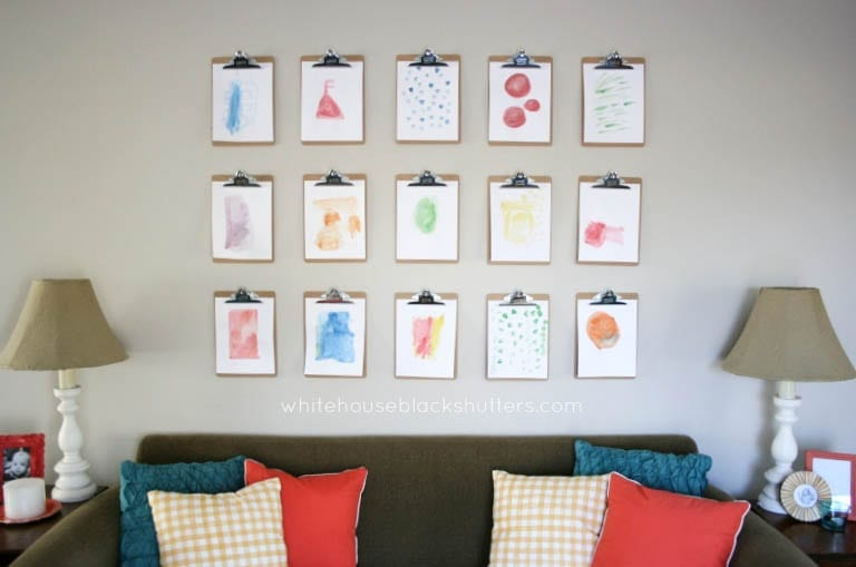 How to Make a Clipboard Wall