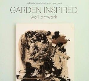 "Finally! A ""garden inspired"" project that actually looks like a garden. How to make garden inspired artwork via @whbsblog"