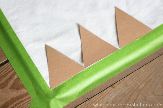 use stencils to make a color blocked triangle tote bag! via @whbsblog