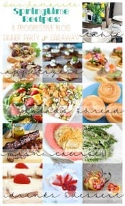 Springtime Progressive Dinner with 12 great recipes and a giveaway!