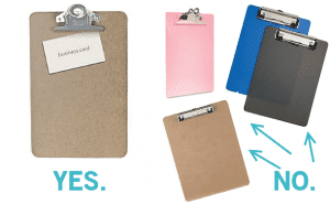 how to find good, old looking clipboards