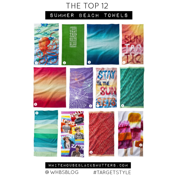 the top 12 summer beach towels, via @whbsblog #targetstyle