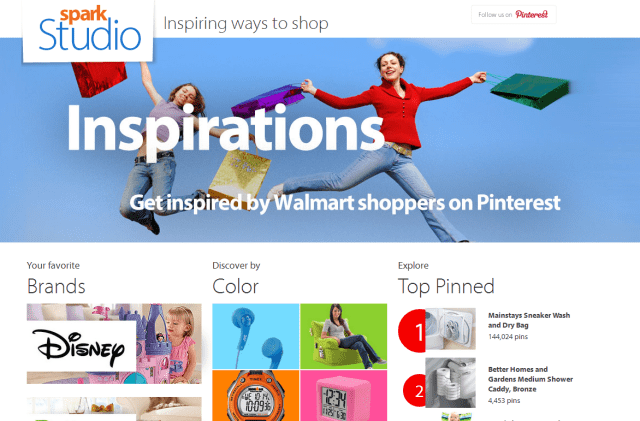 shopping + pinning = Spark Studio. Browse items that people are pinning and see what's trending!