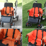 the best way to clean a stroller using all-natural, kid safe cleaners.