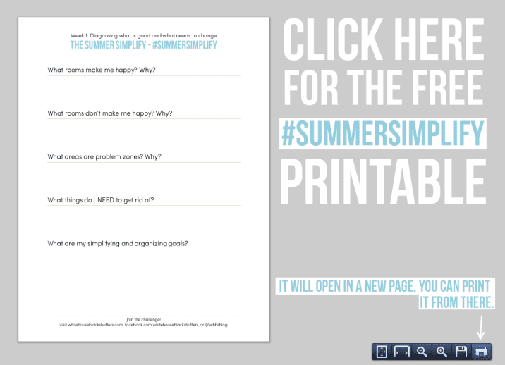 """simplify your home over the summer with the """"Summer Simplify"""" decluttering series"""