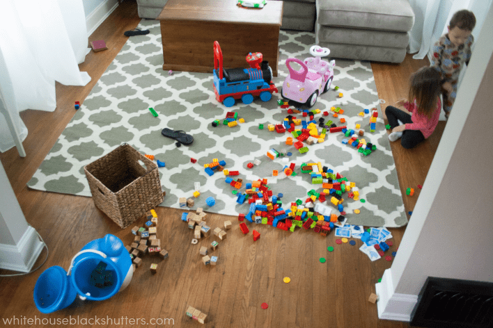 """an example of a """"good mess"""", everything has a spot and cleans up well. Join in the Summer Simplify declutter challenge"""