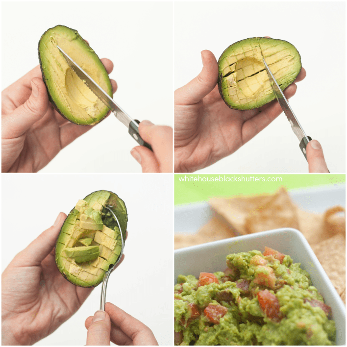 learn how to cut an avocado, even not-so-ripe ones! Can't believe I didn't know this trick before...