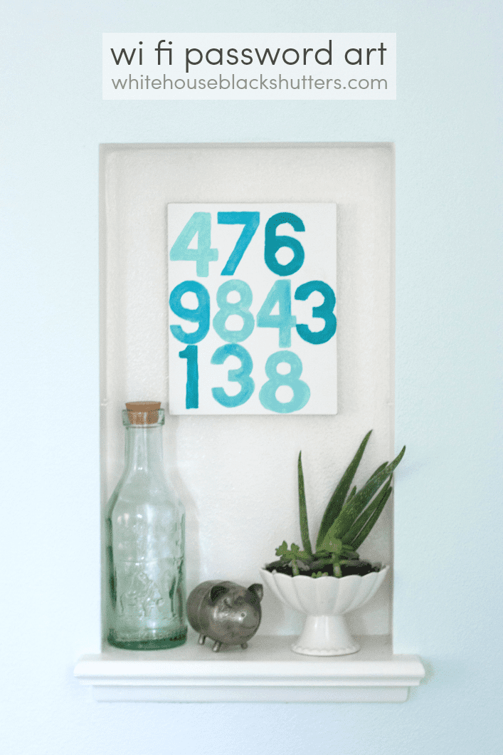 like your friends and guests? take your WiFi password and keep it close at hand with DIY art!