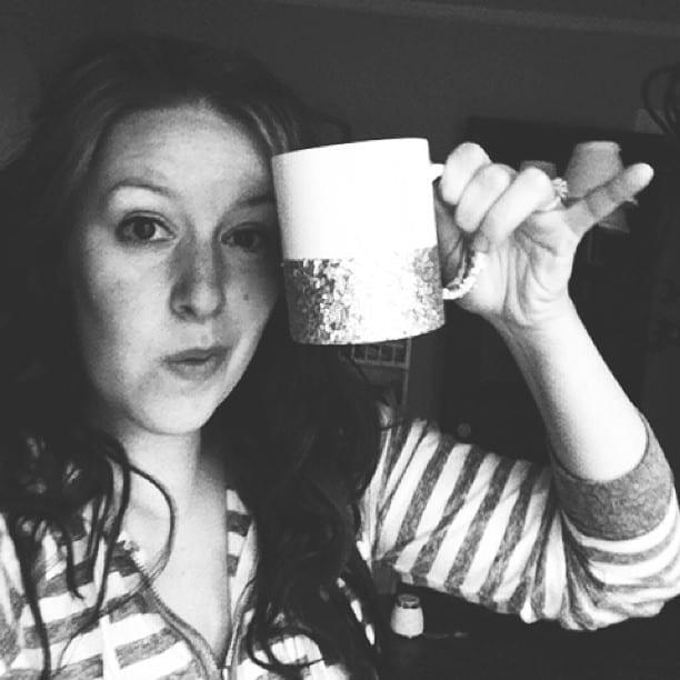 make a glitter dipped coffee mug! dishwasher safe too!