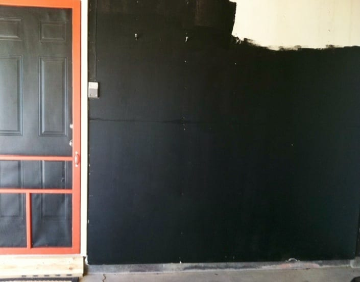 How To Make A Chalkboard Wall And Not Have Dust In The