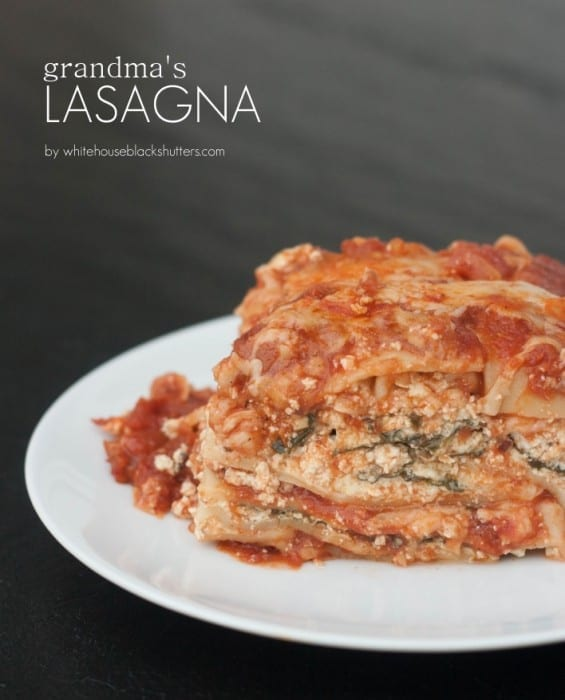 this lasagna looks SO good! Original recipe from blogger's great grandma, this thing is the real deal.