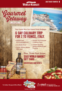 enter to win a trip to Italy!