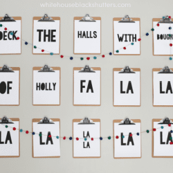 DIY Christmas Carol Wall Prints