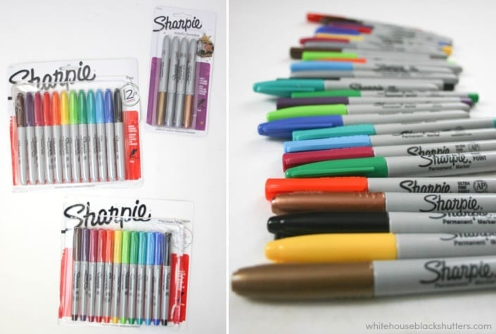 make a DIY scribble letter garland! free #printable, plus a deal on Sharpies.