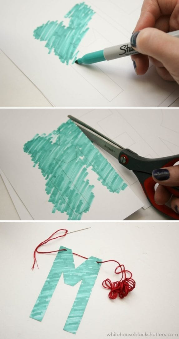 make a DIY scribble letter garland! free #printable letters included!