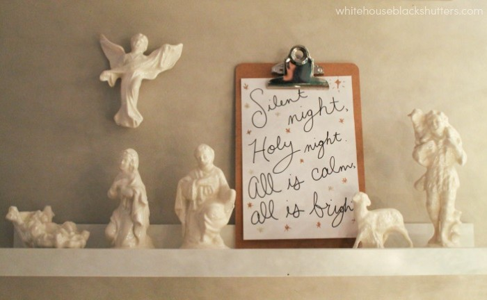 Nativity set on a shelf! plus ideas of up high places to put your set.