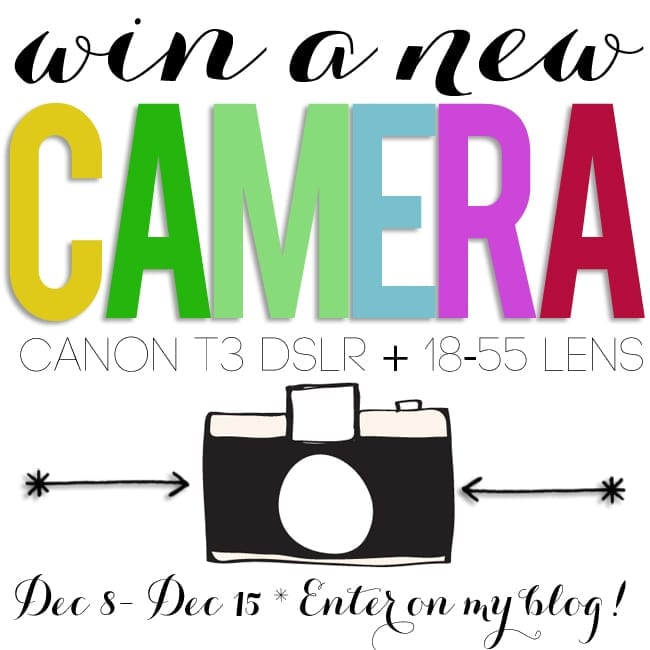win a new Canon T3 DSLR!