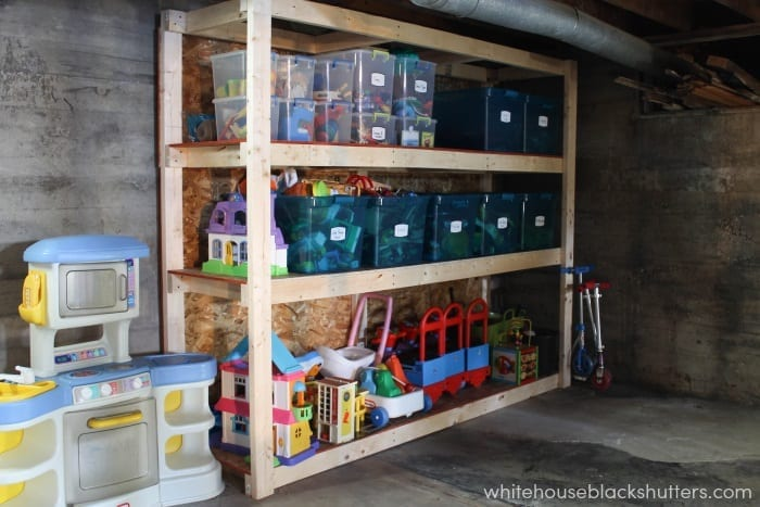 How To Organize A Small House how to keep the toys from taking over - white house black shutters