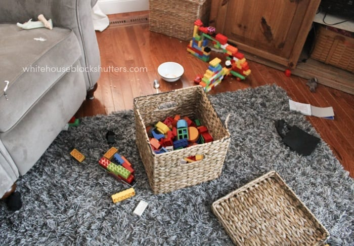 tips on toy organization and storage in a small home. Written by a mom of four young kids. MUST READ!