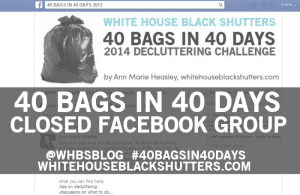 join the 40 bags in 40 days closed facebook group!