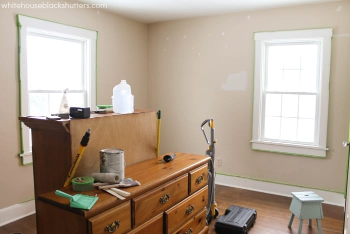 beige to greige before and after, you won't believe the difference paint makes in this room!