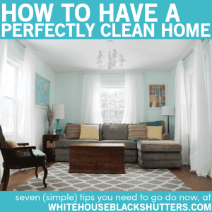 Tips on how to have a perfectly clean home. Uhh, really? I need to read this..