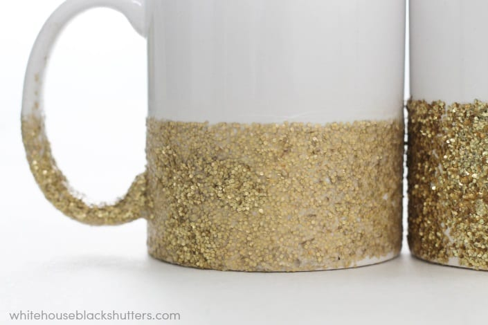 This blogger says her dishwasher safe glitter mug held up after 6 months! Here are her tips, tricks, and the tutorial to DIY your own.