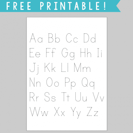 a simple tracing printable for letters, great for practice or for displaying as artwork!