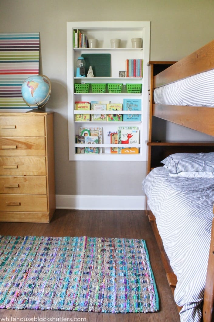 Colorful But Neutral Shared Kids Room, Love The Colors!