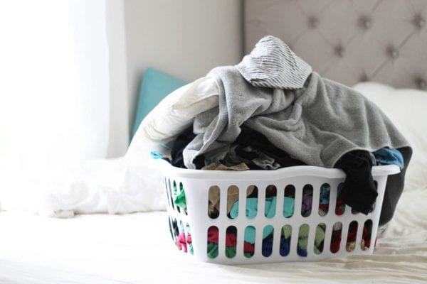 how to keep the laundry from taking over! Tips and tricks from a family of 6.