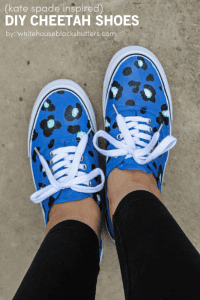 okay, LOVE!! how to make these (kate spade inspired) cheetah shoes with a cricut