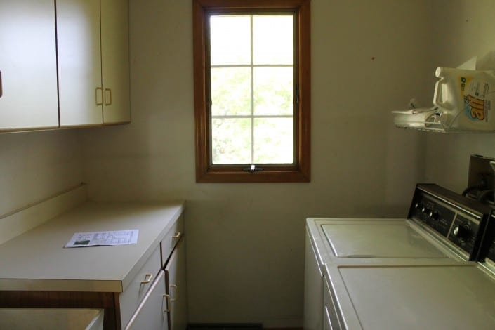 small laundry room, before! click to see the after