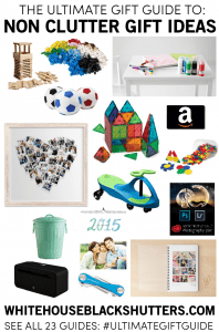 the ultimate list of non clutter gift ideas! perfect for simplifying your family gifts.