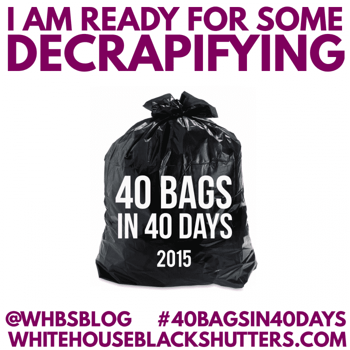 40 bags in 40 days | Whitehouseblackshutters.com