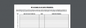 click through to download 40 bags in 40 days printable