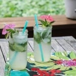 coconut mason jar mojitos - yum!