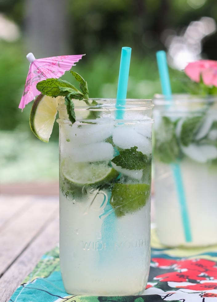 coconut mason jar mojitos