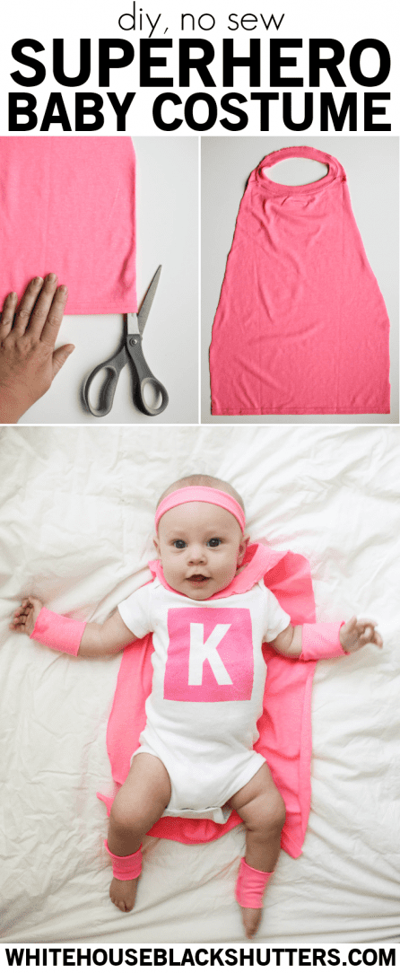 make a no-sew DIY superhero costume for your little one!
