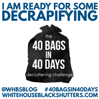 join the decluttering revolution! Challenge yourself to declutter 40 bags of items in 40 days. #40bagsin40days