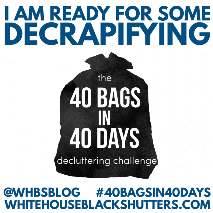 Challenge Yourself To Declutter 40 Bags Of Items In Days
