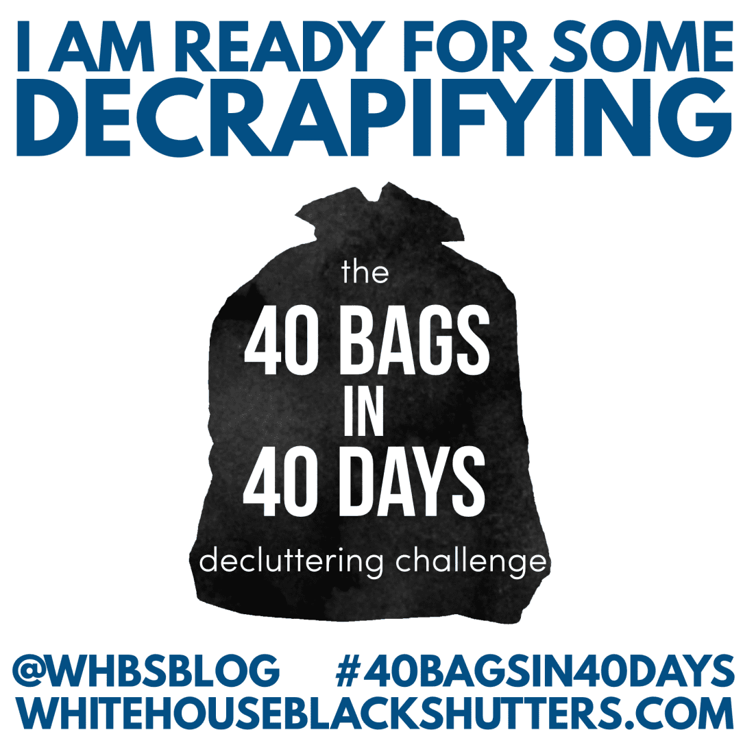 40 Bags in 40 Days Decluttering Challenge