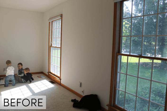 click for the after! before picture of office, large floor to ceiling windows