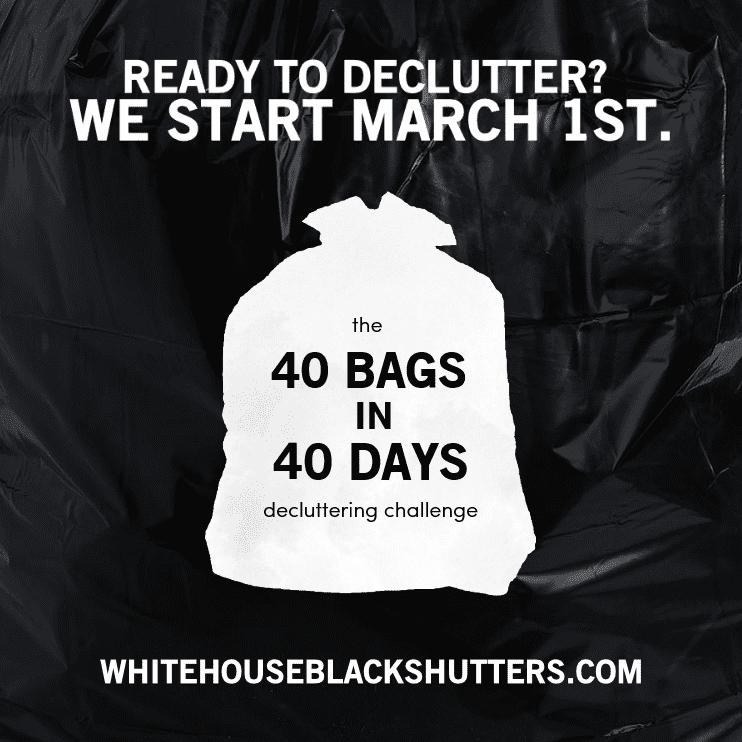 http://www.whitehouseblackshutters.com/40-bags-in-40-days/