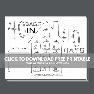 Love adult coloring books? Get your 40 bags in 40 days coloring page printable.