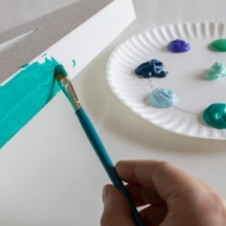 Cute and SO easy to do. Paintable canvas letters!