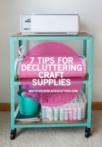 tips on how to declutter your craft supplies and make more time to create