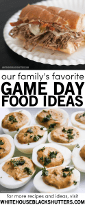your search is over, here are our family's favorite game day food ideas.