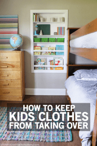 This is great! 8 tips on how to keep the kids clothes from taking over