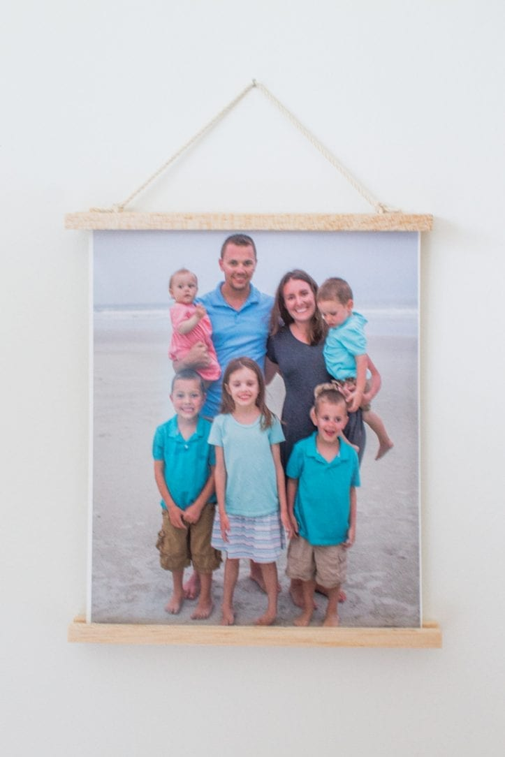 Wooden Photo Hanging Display